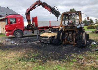 Lastning av brunna fordon