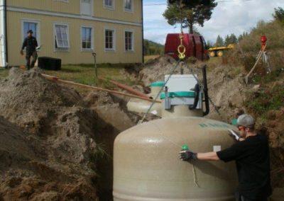 Grävning minireningsverk