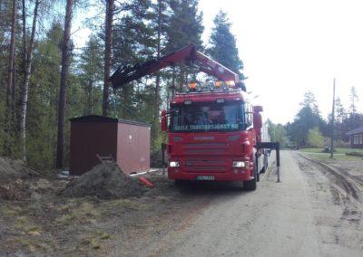 Lyft av ny station Åsele Kraft